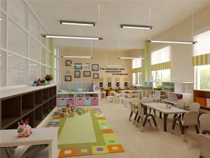 140平米简约风格幼儿园设计装修效果图