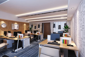 68平米现代风格小公司办公室装修效果图