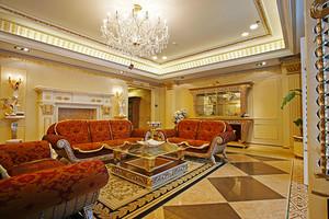 200平米巴洛克风格别墅室内装修效果图赏析