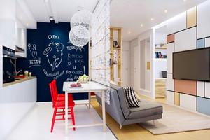 北欧风格小户型客厅隔断设计装修效果图