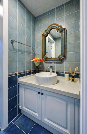地中海风格大户型室内卫生间浴室柜装修效果图