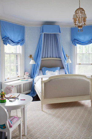 浅蓝色简欧风格清新儿童房装修效果图