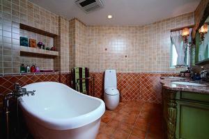 119平米美式田园风格三室两厅室内装修效果图