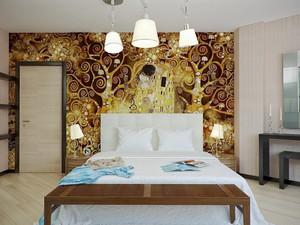 简欧风格精致卧室背景墙装修效果图大全