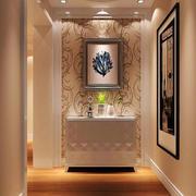 简欧风格大户型精美玄关柜设计装修效果图