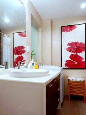 110平米中式风格简装两室两厅室内装修效果图