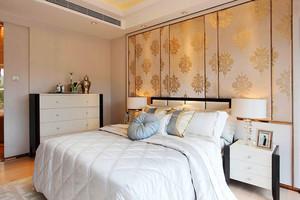 中式风格精致卧室背景墙装修效果图