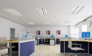 60平米现代风格办公室办公桌设计装修效果图