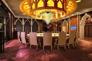 欧式风格精致五星级酒店包厢吊灯设计装修效果图