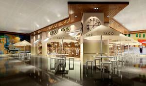 90平米欧式风格咖啡厅设计装修效果图