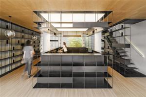 300平米后现代风格书店设计装修效果图赏析