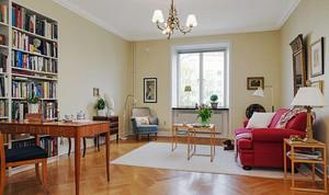 68平米北欧风格清新自然公寓装修效果图