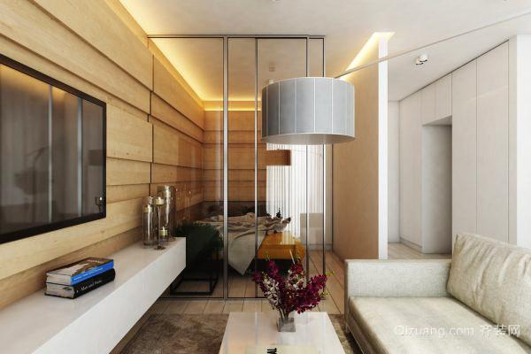 58平米现代风格精装单身公寓装修效果图