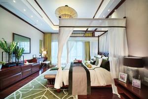 东南亚风格大户型室内卧室吊顶设计装修效果图
