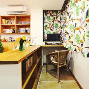 58平米个性混搭风格一居室小户型装修效果图