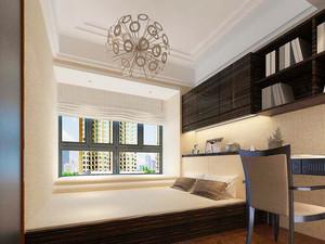 129平米简欧风格三室两厅室内装修效果图案例