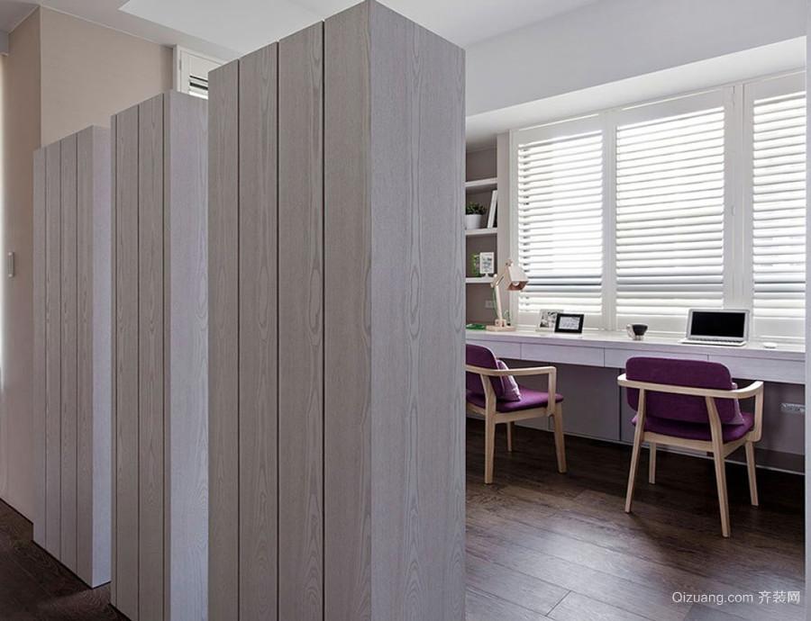 欧式风格三居室室内书房隔断设计装修效果图