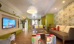 81平米清新风格两室两厅室内装修效果图赏析