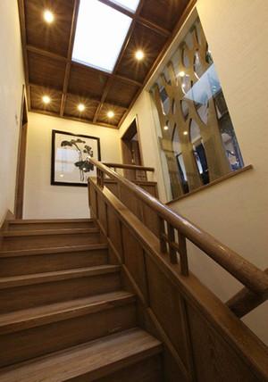 120平米中式风格小复式楼装修效果图案例