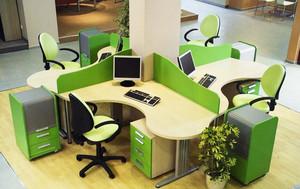 现代简约风格办公室办公桌装修效果图