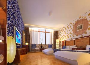 56平米现代风格宾馆客房装修效果图赏析