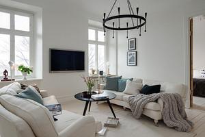 89平米北欧风格简约三室两厅室内装修效果图赏析