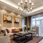 欧式风格大气精致客厅吊灯设计装修效果图赏析