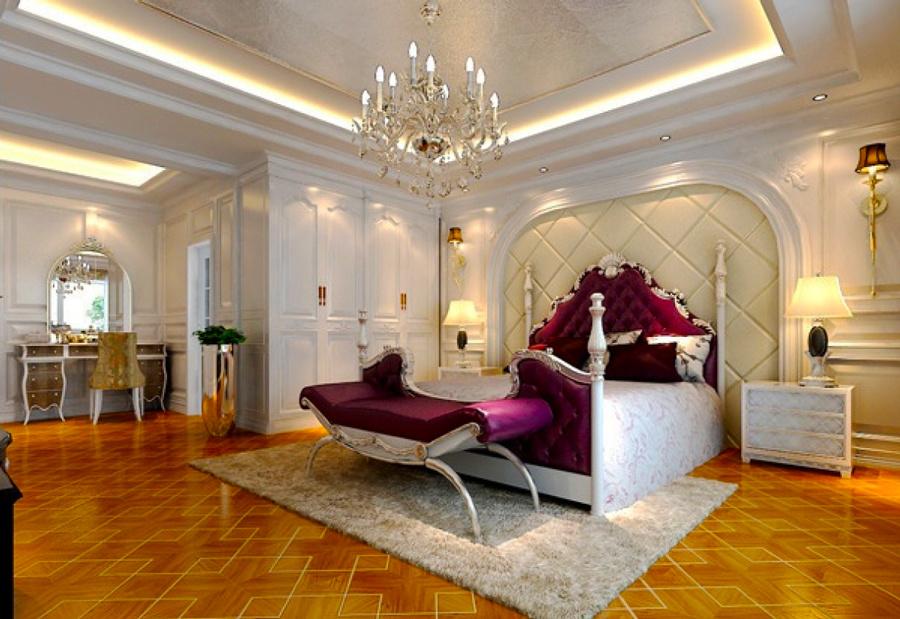 法式风格别墅室内低调奢华卧室装修效果图赏析