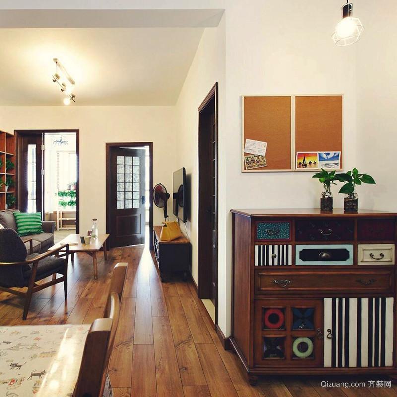 100平米复古风格精致室内装修效果图案例