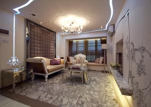 92平米简欧风格精装三室两厅室内装修效果图赏析