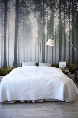 现代风格两居室卧室3D背景墙装修效果图
