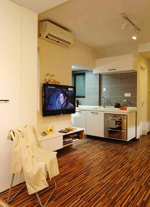 61平米现代简约风格一居室小户型装修效果图案例