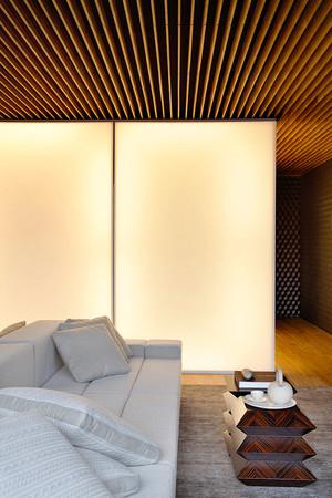 66平米后现代风格深咖色一居室装修效果图赏析