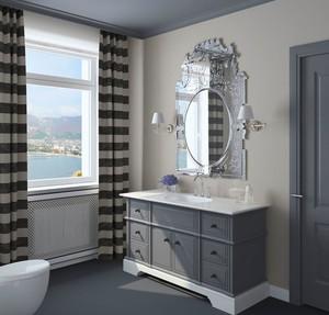 现代美式风格精致卫生间浴室柜装修效果图
