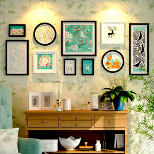 清新风格照片墙装修效果图赏析