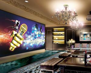 55平米简欧风格KTV中包房设计装修效果图