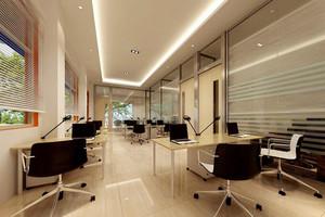 140平米现代风格办公室吊顶设计装修效果图