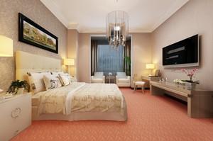46平米简欧风格宾馆客房设计装修效果图