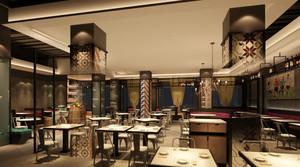160平米新中式风格火锅店设计装修效果图