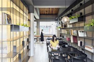 118平米现代工业风格咖啡厅设计装修效果图