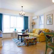 地中海风格两居室彩色时尚客厅装修效果图赏析