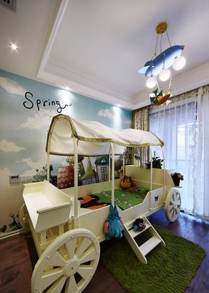 现代简约美式风格大户型创意儿童房装修效果图
