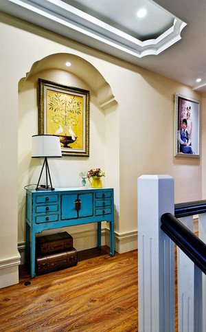 150平米复古美式风格大户型室内装修效果图鉴赏