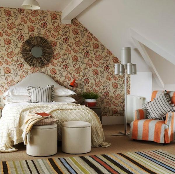 美式风格别墅斜顶阁楼卧室装修效果图赏析