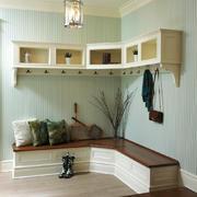 北欧风格自然简约玄关鞋柜设计装修效果图