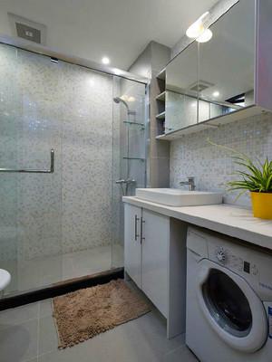 63平米现代简约风格精装一居室装修效果图实例