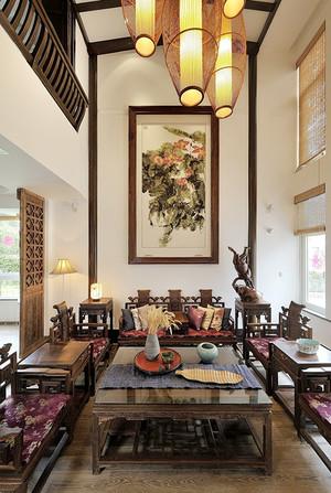 160平米古韵中式风格大户型室内装修效果图赏析