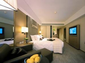 55平米现代风格宾馆客房装修效果图