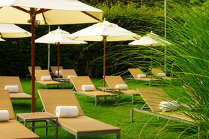 现代风格五星级酒店花园设计装修效果图
