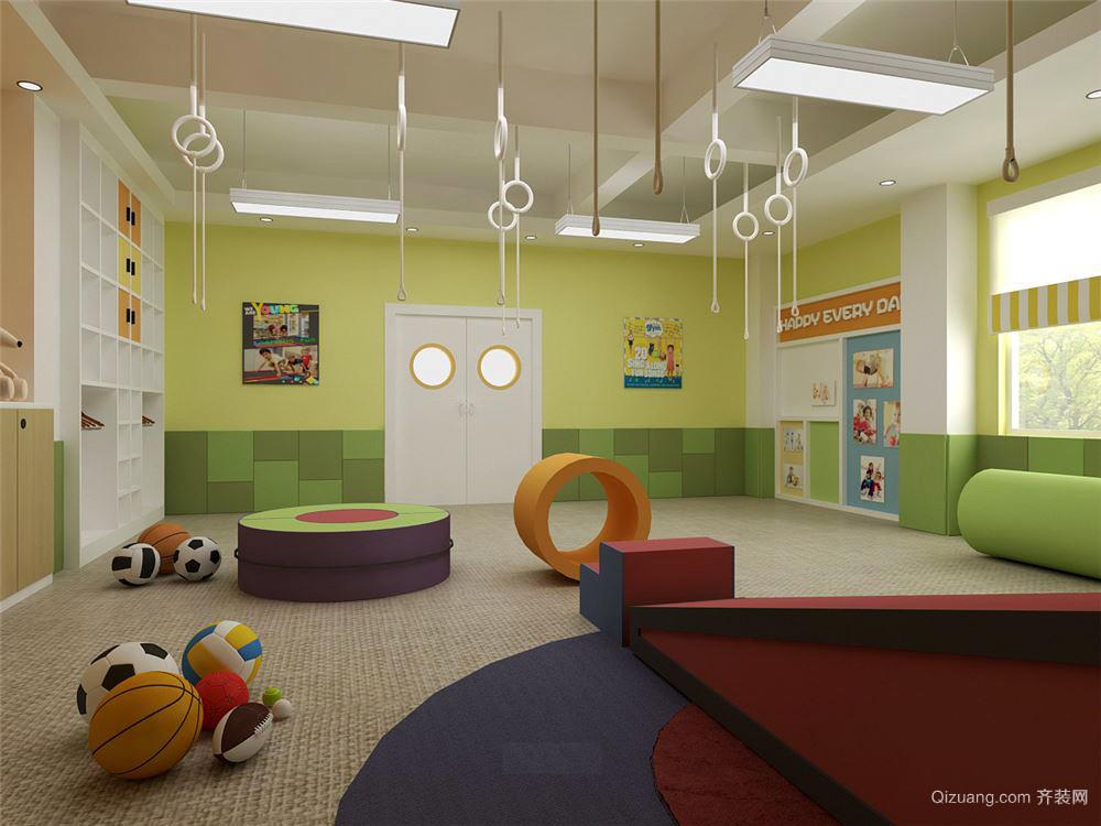 100平米简约风格幼儿园教室设计装修效果图